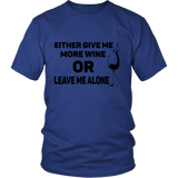 Give Me Wine Tee Shirts (5 Colors) - The Shoppers Outlet