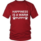 Happiness Is A Warm Puppy Tee Shirts - The Shoppers Outlet