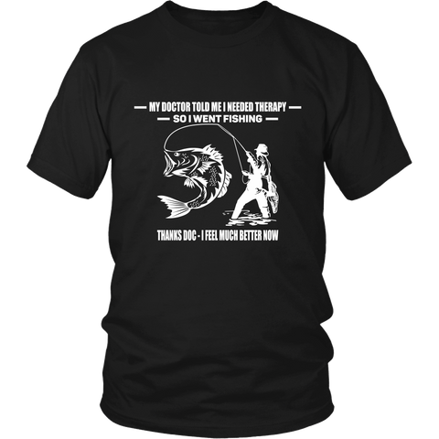 Fishing Therapy Tee Shirts - The Shoppers Outlet