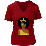 Afro Queen V-Neck Tee Shirts - The Shoppers Outlet