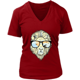 Hip Lion in Shades V-Neck Tee Shirts - The Shoppers Outlet
