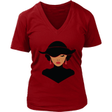 Classic African American Woman V-Neck Tee Shirts - The Shoppers Outlet