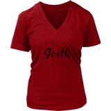 Faith V-Neck Tee Shirts - The Shoppers Outlet