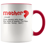 Mother - Noun Accent Mugs - The Shoppers Outlet