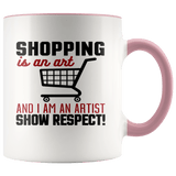 Fun - Shopping Is An Art Accent Mugs - The Shoppers Outlet