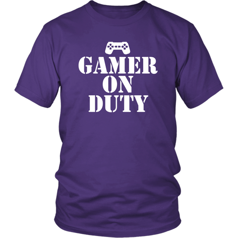 Gamer on Duty Tee Shirts- White Font (7 Colors) - The Shoppers Outlet