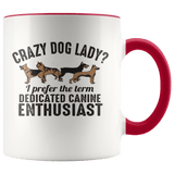 Animals - Crazy Dog Lady Mugs (7 Colors) - The Shoppers Outlet