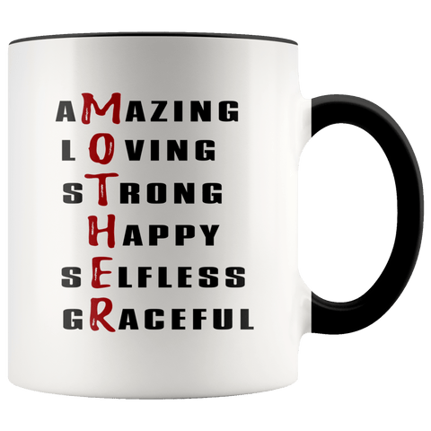 Mother - Description Accent Mugs - The Shoppers Outlet