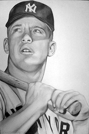 Mickey Mantle 1952 Print
