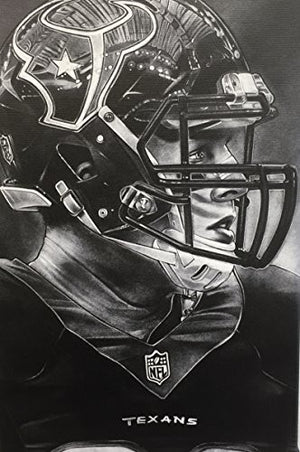 Houston Texans (JJ Watt) Helmet Print