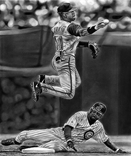 """Turning 2 The Hall"" featuring Barry Larkin Print"