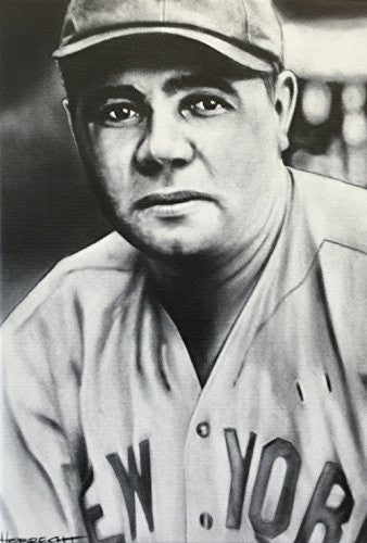 Load image into Gallery viewer, Babe Ruth Portrait Print