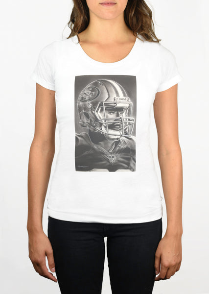 Forty Niners Helmet Womens T-Shirt