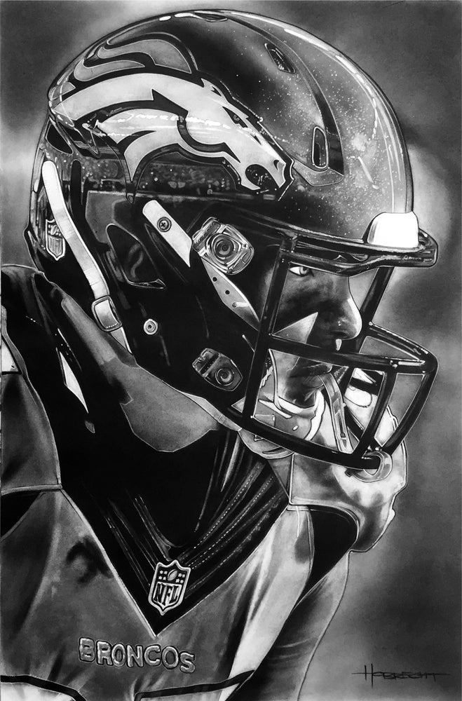Load image into Gallery viewer, Denver Broncos Helmet Print