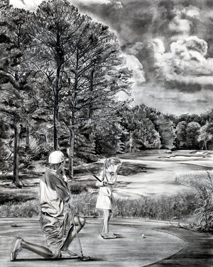 Daddy's Girl Golf Print