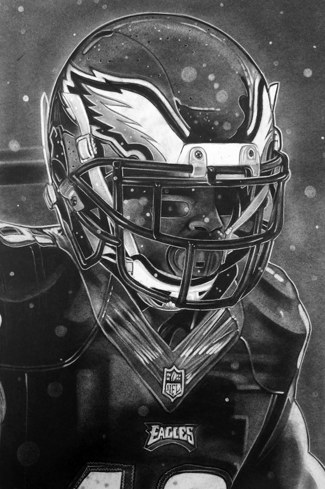 Philadelphia Eagles Helmet Print