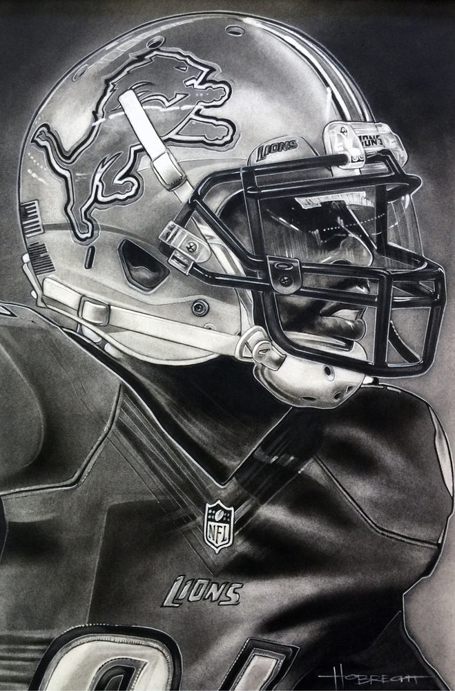 Load image into Gallery viewer, Detroit Lions Helmet Print