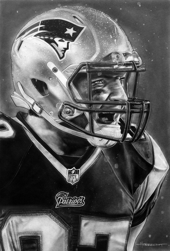 Load image into Gallery viewer, New England Patriots Helmet (Gronk) Print