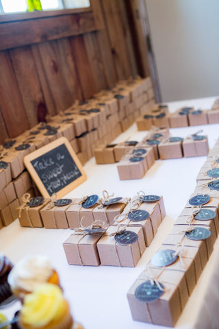 candy wedding favors, northern michigan, seafoam candy, traverse city, wedding
