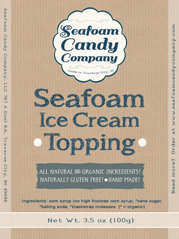 Seafoam Candy Ice Cream Topping
