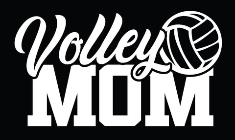 Volleyball Decal - VOLLEY MOM