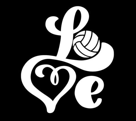 Volleyball Decal - LOVE