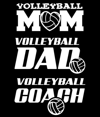 Volleyball Decal - Mom, Dad, Coach