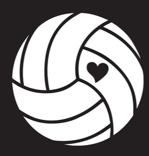 Volleyball Window Decal - VB w/ Heart