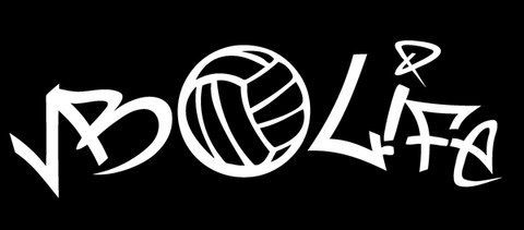 Volleyball Window Decal - VB LIFE