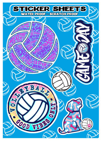 Volleyball Sticker Sheets