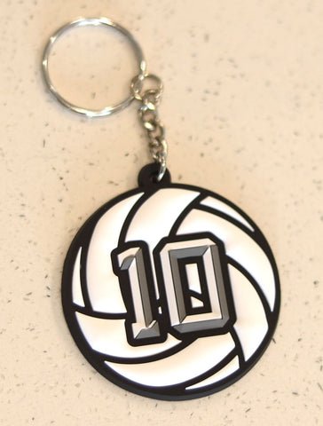 Volleyball Numbered Bag Tags