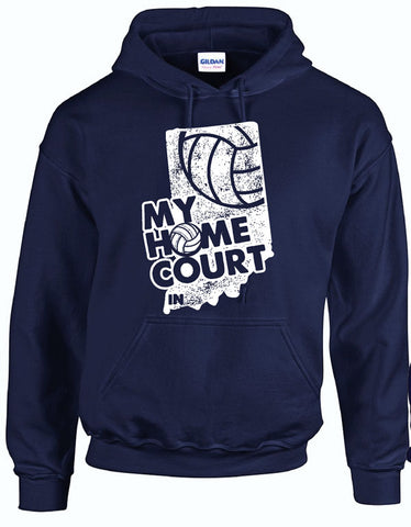 MY HOME COURT IN - Hooded Sweatshirt