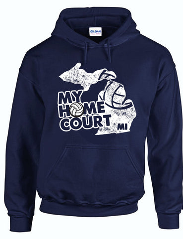 MY HOME COURT MI - Hooded Sweatshirt