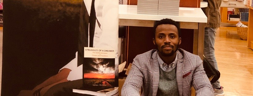 Yahaya Baruwa the author of Struggles of a Dreamer, Tunde and The Adventures of Ellie
