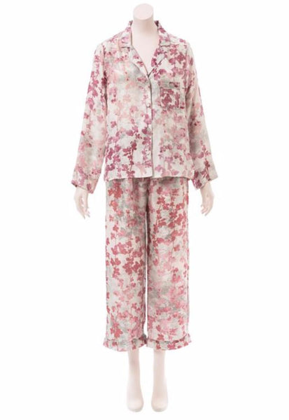 Brambles Light Pink Silk Pajama Set