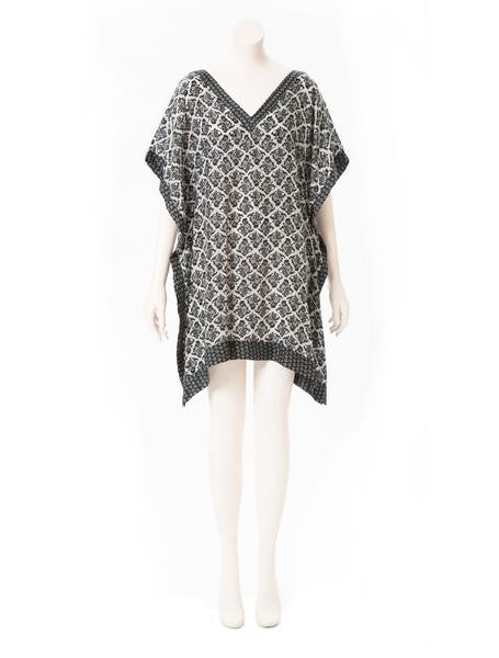 Brazil Tree Black & White Silk Tunic