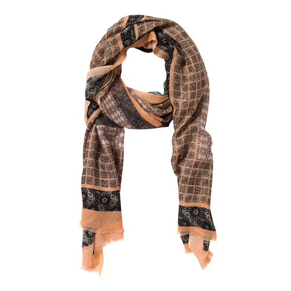 Marble Man Pink Cashmere Scarf