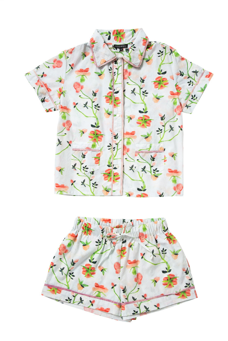 Dianthus Cotton Pajama Set (Extra Small)