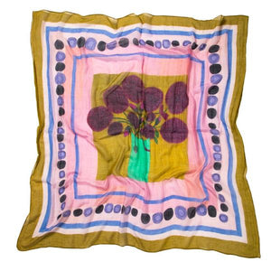 Load image into Gallery viewer, Magenta Hydrangea Bouquet Scarf