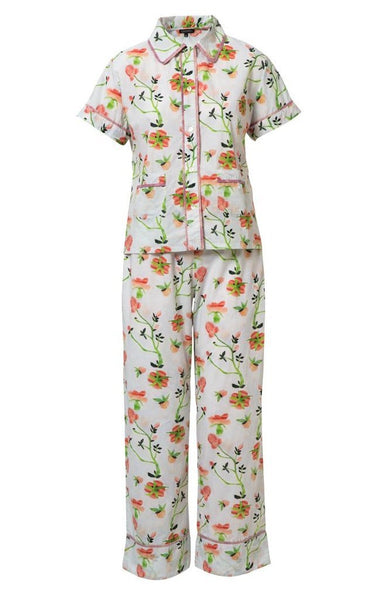Dianthus Rose Cotton Long Pajama Set