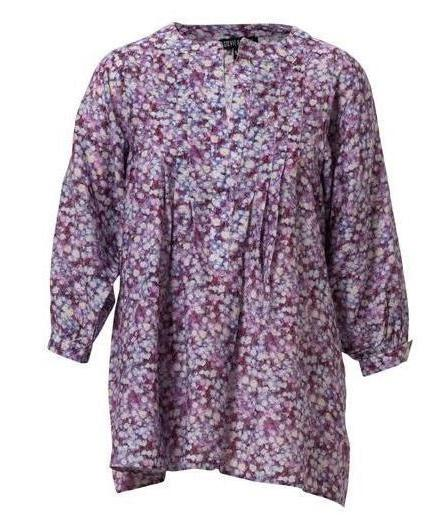 Alice Parnassia Plum Cotton/Silk Top (S/M)