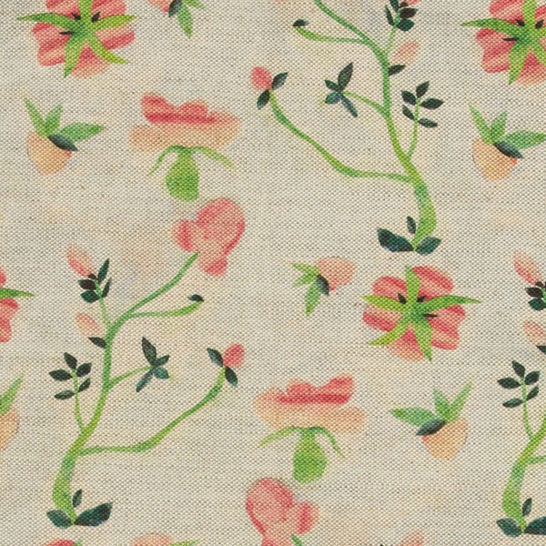 Dianthus Rose Fabric by the Yard