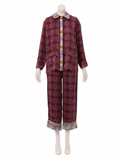 Morgan Julia Tile Silk Pajama Set