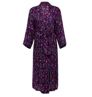 Welles Lavandin Silk Robe Coat