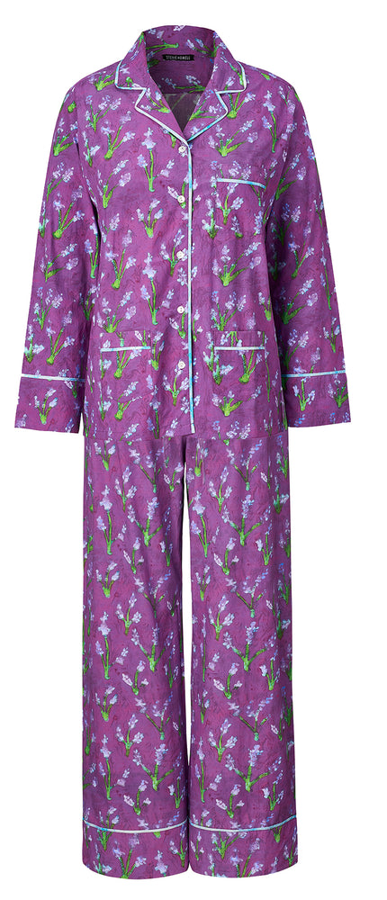 Load image into Gallery viewer, Lavandin Cotton Pajama Set