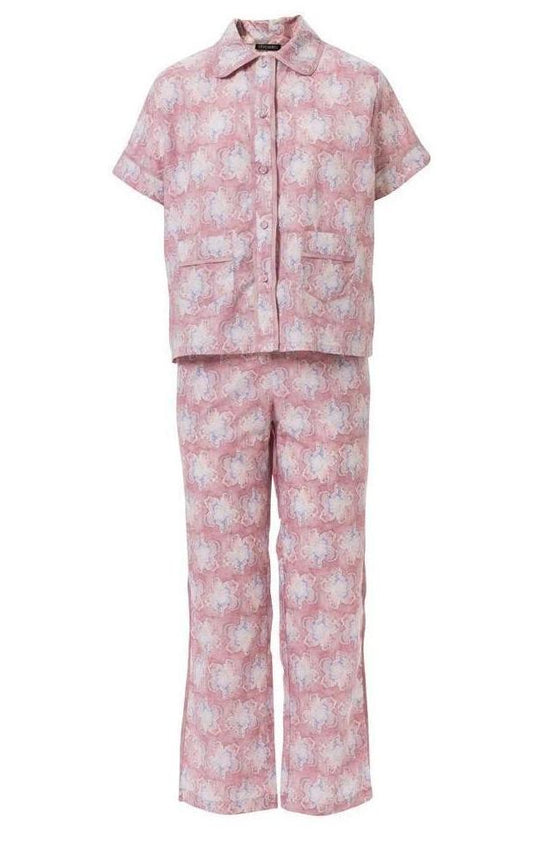 Alastair Orchid Cotton Pajama Set (Small)