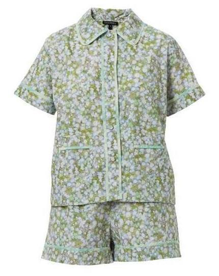 Parnassia Celadon Cotton Pajama Set
