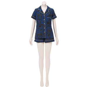 Navy Pajama Set (Size Medium)