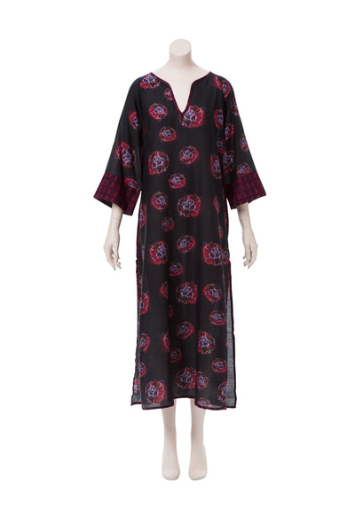 Marion Phoebe Flower Silk/Cotton Kaftan SAMPLE (Size Small/Medium)