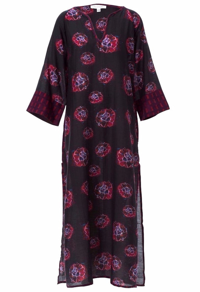 Load image into Gallery viewer, Marion Phoebe Flower Silk/Cotton Kaftan SAMPLE (Size Small/Medium)